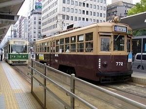 広島のチンチン電車は活気があり、大活躍!