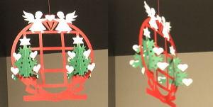 デンマーク製の手作り紙のクリスマスオーナメント
