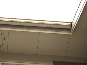 屋根の縁 黒ずんでとても1年~2年前に塗ったとは思えない