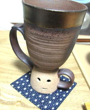 お茶を入れて飲んでます