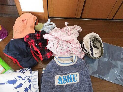 夏用冬用の洋服・ヒート用のコーギー用パンツ(マナーパンツとして活用可能)・レインコート・首輪・リード・手袋(人間用)など