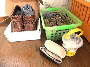 寝る時には寝室にはぜひ履きなれた靴と靴下を。