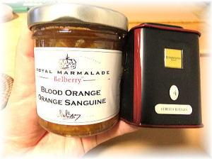 『Belberry  ベルベリー 』のブラッドオレンジマーマレード&『DAMMANN  ダマン』の紅茶