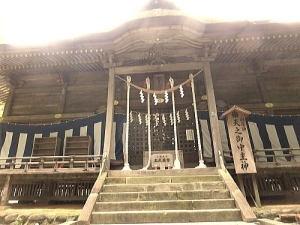 相馬中村神社の拝殿の真正面から.