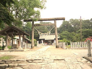 相馬神社の鳥居前