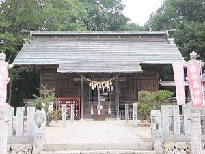 相馬神社の拝殿