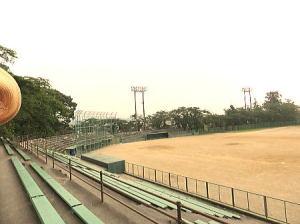 野球場がある東二の丸跡