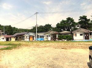 仙台市内の丘陵地帯にある叔父の家の周辺