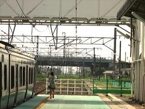 常磐線亘理駅のホーム;いわき・相馬方面です