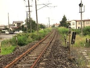 線路から下り 仙台・相馬駅方面