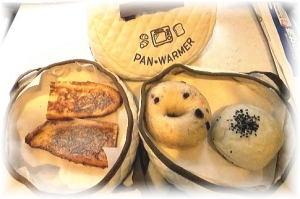 パンウォーマーで温めるとモチモチして美味しいパン