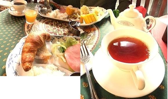 こだわりの紅茶や焼きたてのパンもありました