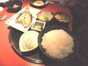 西京焼きと干しカレイの焼き物を選べました