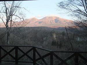 コテージから見える浅間山は素晴らしいなの。