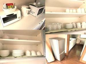 食器類や別な引き出しにはお鍋やガスコンロもあり