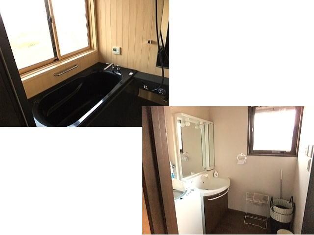 2Fにはお風呂と洗濯機・洗面所・トイレがあります。