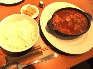 軽井沢ビーフシチュー(ご飯・香物付) 2,100円(冬のビーフシチューフェアーでお安く)