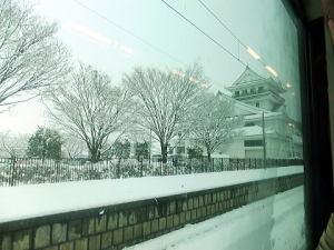 亘理駅からの景色 雪降ってたよ