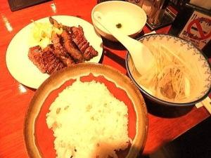 仙台の『たんや善治朗』の真中たん定食 2100円