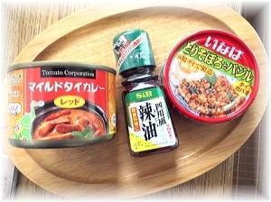 CAN DOで100円で買ったタイカレーなど。美味しい