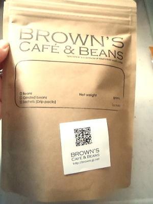 『BROWN'S CAFE&BEANS』のレギュラーコーヒー 200g粉