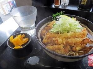 かき揚げ蕎麦 (温) 440円なり