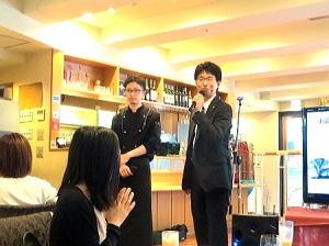 司会者の方と 『レストラン chez MACIO』  香川 拓斗 シェフ